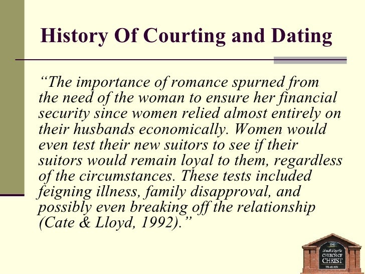 What is courting a woman