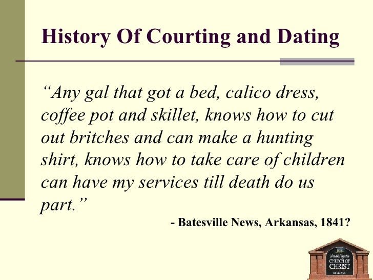 Courtship and dating history