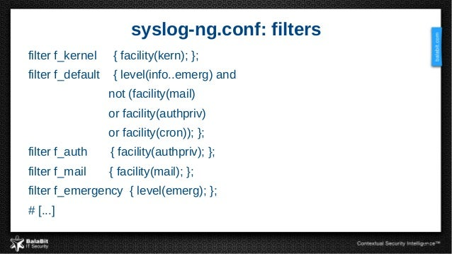 Syslog ng from log collection to processing and information extracti 13 pronofoot35fo Gallery