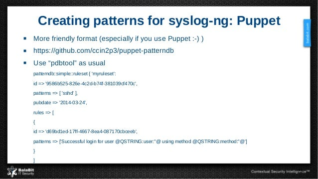 Syslog ng from log collection to processing and for Syslog ng template example