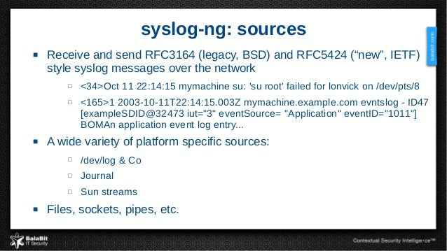 Syslog ng from log collection to processing and information extracti 6 6 syslog ng pronofoot35fo Choice Image