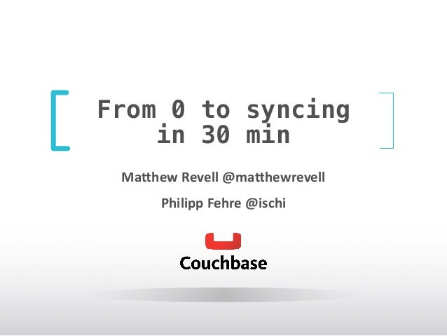 From 0 to syncing in 30 min Ma#hew	   Revell	   @ma#hewrevell	    Philipp	   Fehre	   @ischi