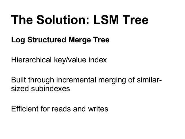 LSM Tree Write           2           1