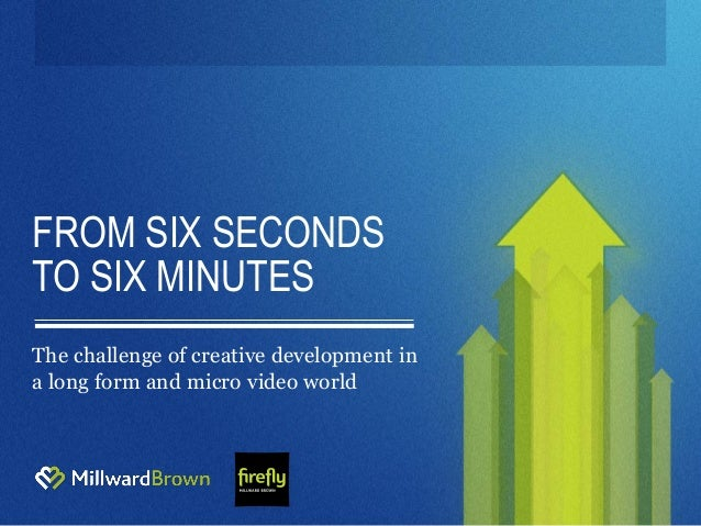 FROM SIX SECONDS TO SIX MINUTES The challenge of creative development in a long form and micro video world