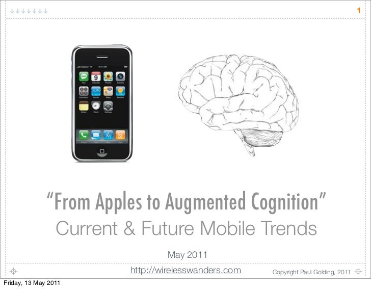 "1              ""From Apples to Augmented Cognition""                 Current & Future Mobile Trends                        ..."