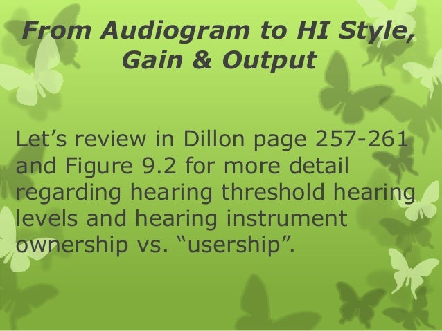 From audio to hi style, gain, & output Slide 2