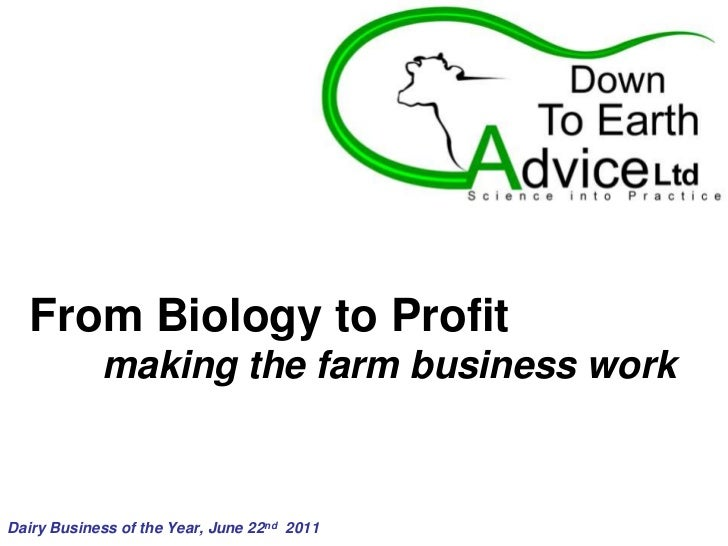 From Biology to Profit