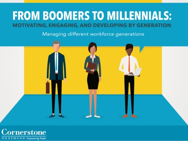 FROM BOMERS T0 MILLENNIMS:   Managing different workforce generations  Cornerstone  O N D E M A N D Empowering People