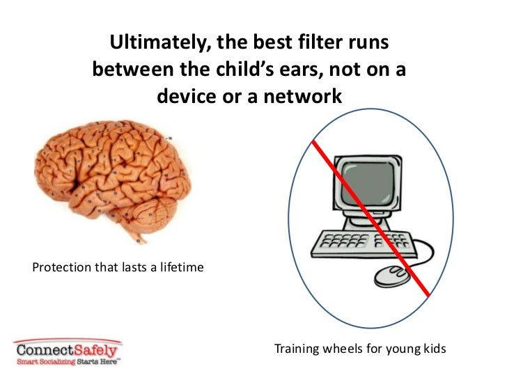 Ultimately, the best filter runs           between the child's ears, not on a                 device or a networkProtectio...