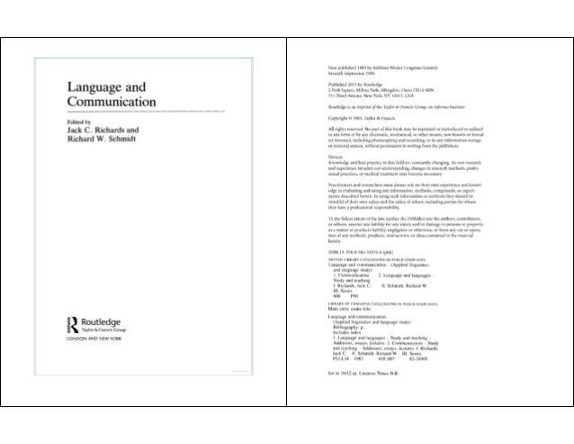 From communicative competence to communicative language