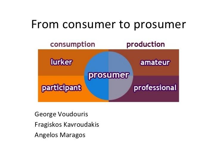 From consumer to prosumer George Voudouris Fragiskos Kavroudakis Angelos Maragos