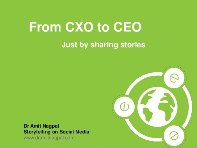 1Copyright © 2013 Dr. Amit Nagpal All rights reserved. From CXO to CEO Just by sharing stories Dr Amit Nagpal Storytelling...