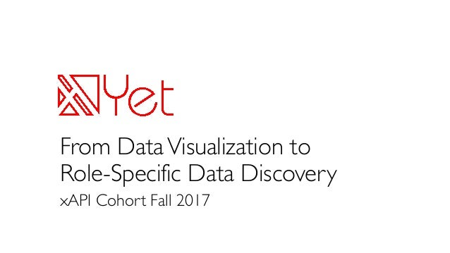 From DataVisualization to Role-Specific Data Discovery xAPI Cohort Fall 2017