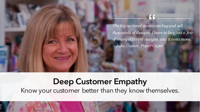 The big national stores can buy and sell thousands of designs. I have to buy just a few of many different designs, and it ...