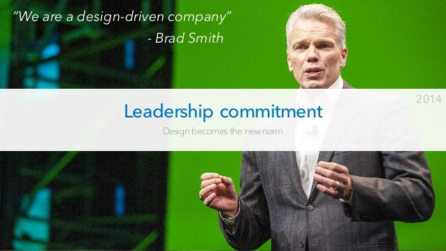 Commit to design excellence Nailing the customer benefits