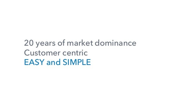 20 years of market dominance Customer centric EASY and SIMPLE