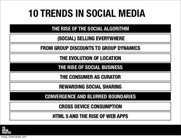 From destination social to dispersed social: 10 trends in social media  Slide 2