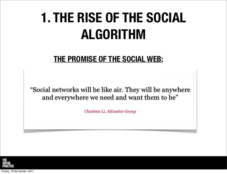 From destination social to dispersed social: 10 trends in social media  Slide 3
