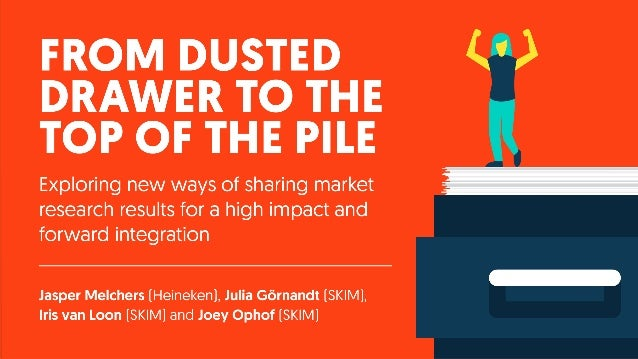 ESOMAR Congress 2017 - From dusted drawer to the top of the pile