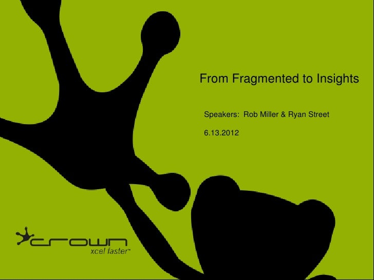 Click to edit Master title style                                                              From Fragmented to Insights ...