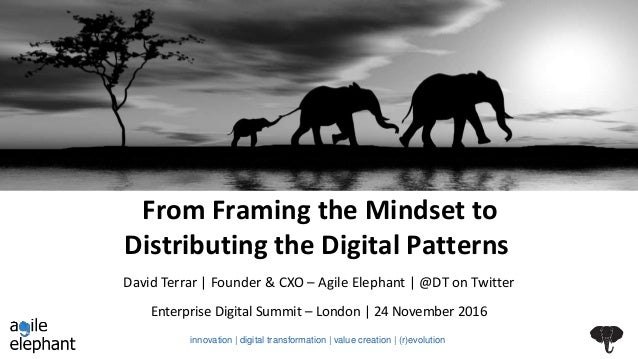 From Framing the Mindset to Distributing the Digital Patterns Enterprise Digital Summit – London | 24 November 2016 David ...