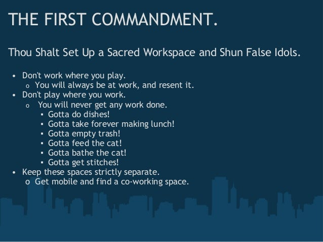 From Full-Time to Freelance: The Ten Commandments of Contracting Slide 2