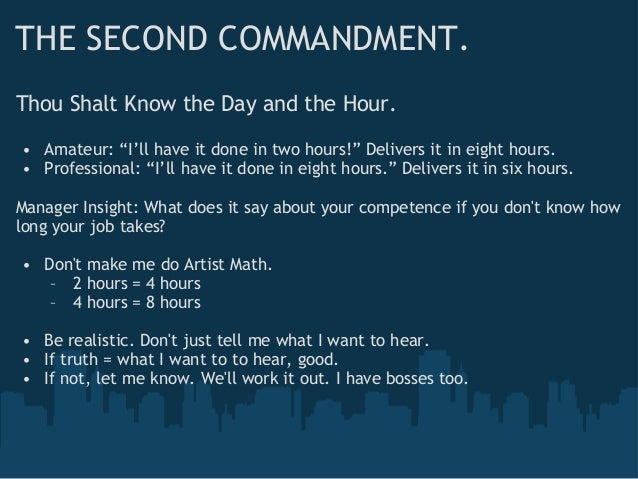 From Full-Time to Freelance: The Ten Commandments of Contracting Slide 3