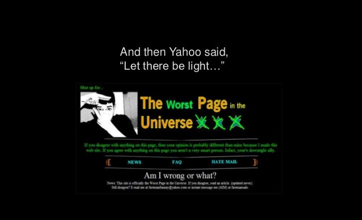 """And then Yahoo said,""""Let there be light…"""""""