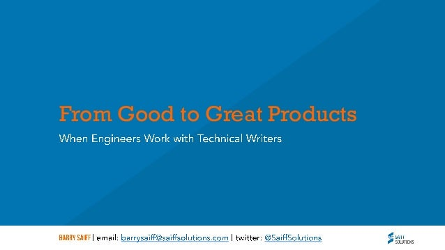 From Good to Great Products
