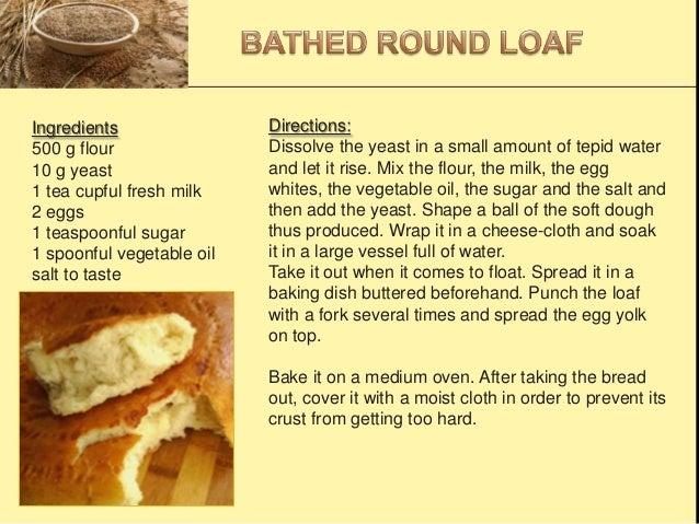Ingredients 500 g flour 10 g yeast 1 tea cupful fresh milk 2 eggs 1 teaspoonful sugar 1 spoonful vegetable oil salt to tas...