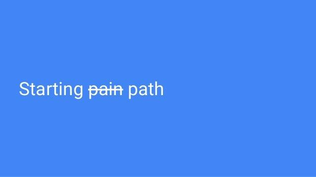 Starting pain path