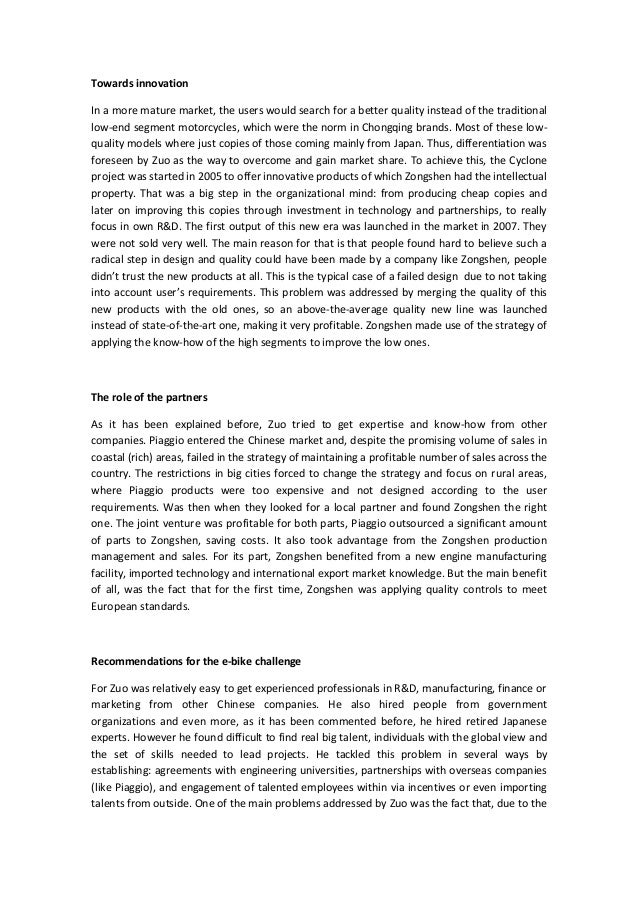 from imitation to innovation zongshen industrial group From imitation to innovation: zongshen industrial group case study solution, from imitation to innovation: zongshen industrial group case study analysis, subjects covered disruptive innovation execution growth strategy industrial development innovation intellectual capital knowledge transfer manufacturing te.