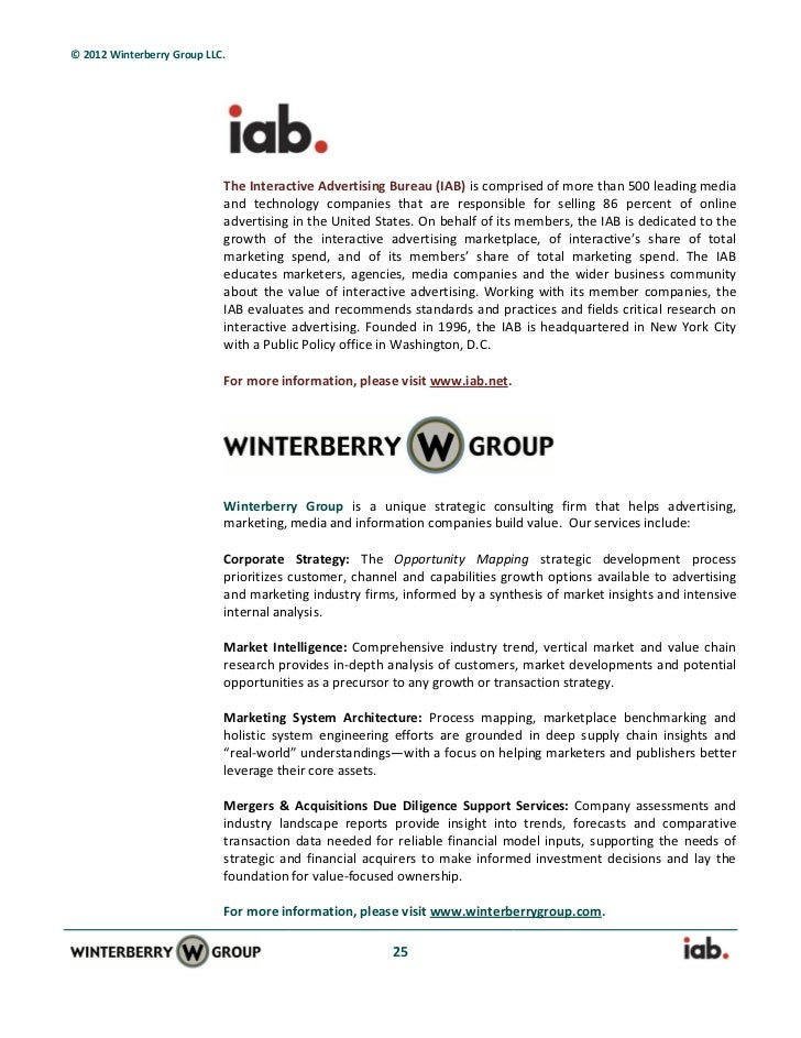 from informaton to audiences a winterberrygroup whitepaper with iab. Black Bedroom Furniture Sets. Home Design Ideas