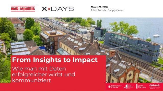 March 21, 2018 Tobias Zehnder, Gergely Kalmár From Insights to Impact Wie man mit Daten erfolgreicher wirbt und kommunizie...