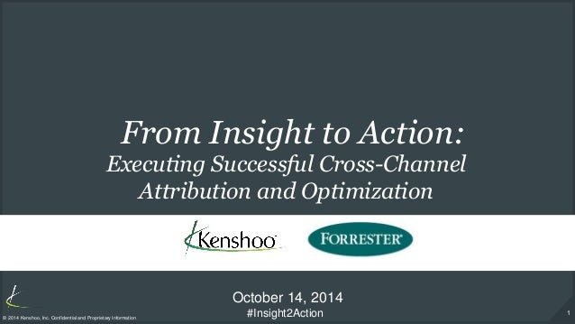 1  © 2014 Kenshoo, Inc. Confidential and Proprietary Information  From Insight to Action:  October 14, 2014  Executing Suc...
