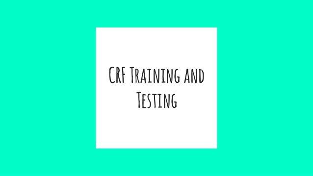 CRFTrainingand Testing
