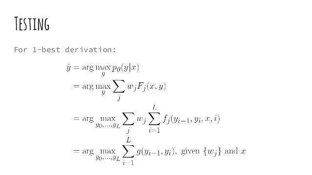 Testing For 1-best derivation: