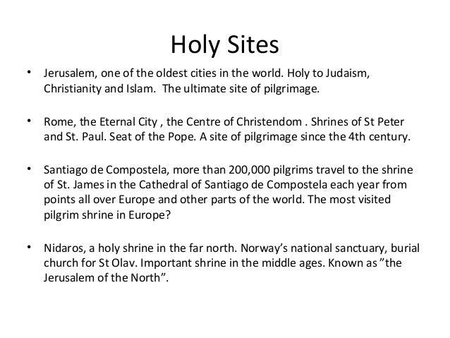 Pilgrims Crossing Borders from Nidaros to Rome and Jerusalem Slide 3