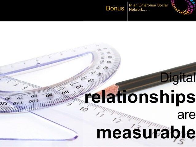 In an Enterprise Social       Bonus   Network.....                                 Digital     relationships              ...