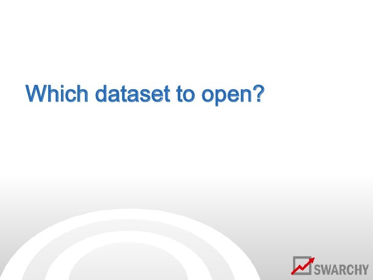 Which dataset to open?<br />