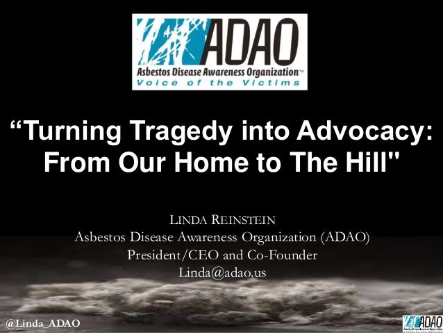 """Linda Reinstein: """"Turning Tragedy Into Advocacy: From Our Home To The Hill"""""""