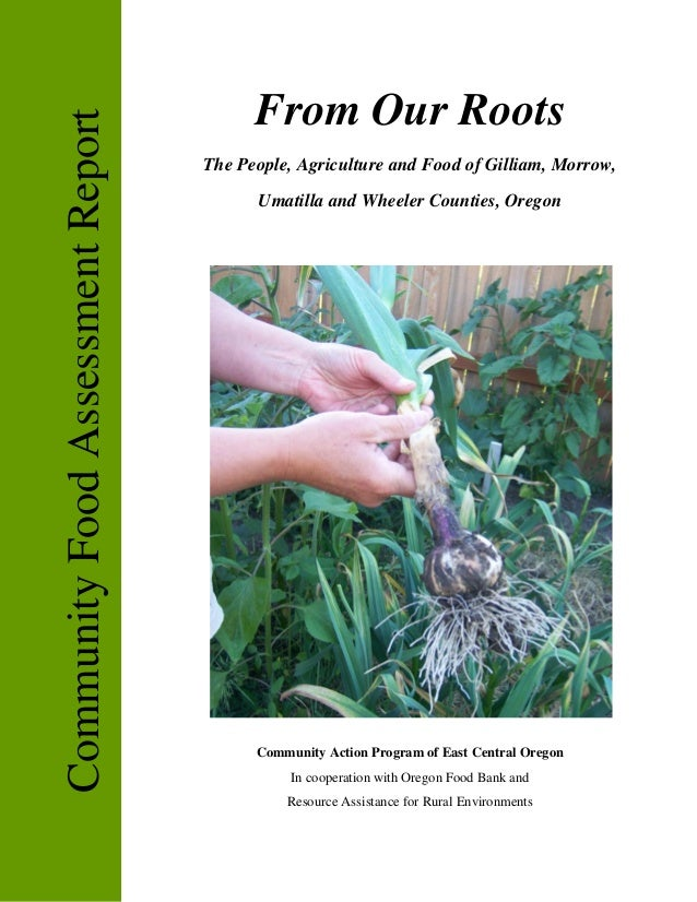 From Our RootsCommunity Food Assessment Report                                   The People, Agriculture and Food of Gilli...