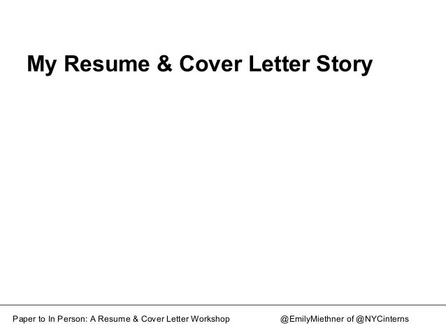 from paper to in person resume and cover letter workshop