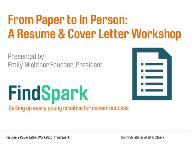 From Paper To In Person: Resume & Cover Letter Tips