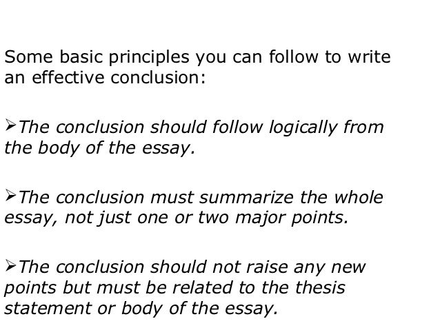 basic principles of writing an essay Principles of academic writing in academic writing in its broadest sense, an entire essay should be unified that is.