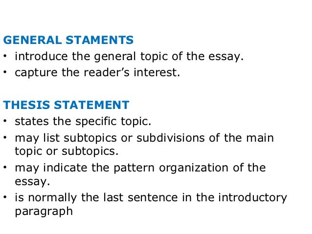 list of general essay topics