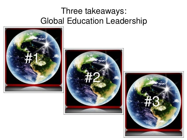 Become a global education leader by being a networked learner and teacher – in a 'flat' learning environment it's who you ...