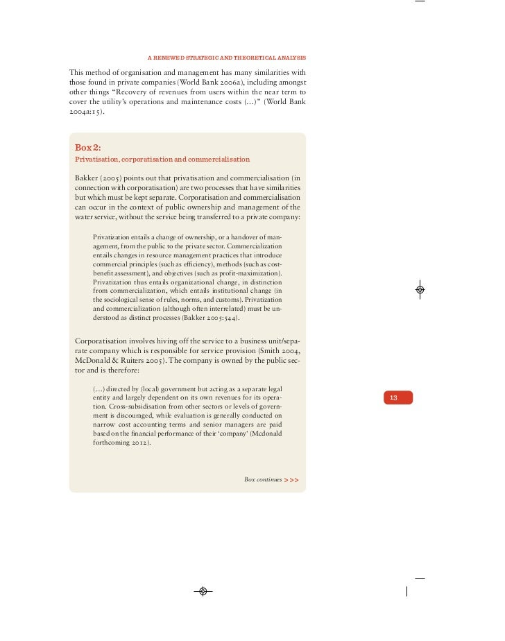 essays on privatisation economic development Extracts from this document introduction the basis of this assignment is to answer the question does privatisation necessarily increase efficiency.
