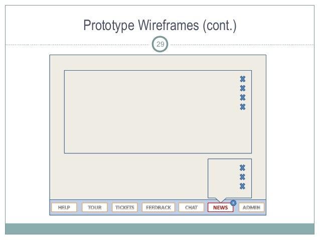 Prototype Wireframes (cont.) 29
