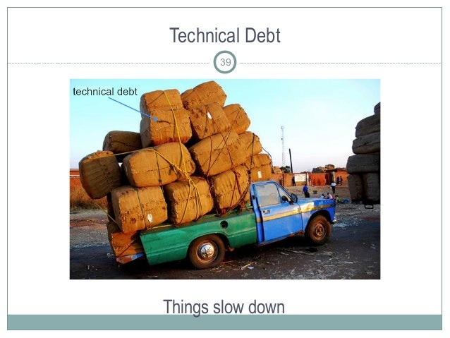 Technical Debt Things slow down 39